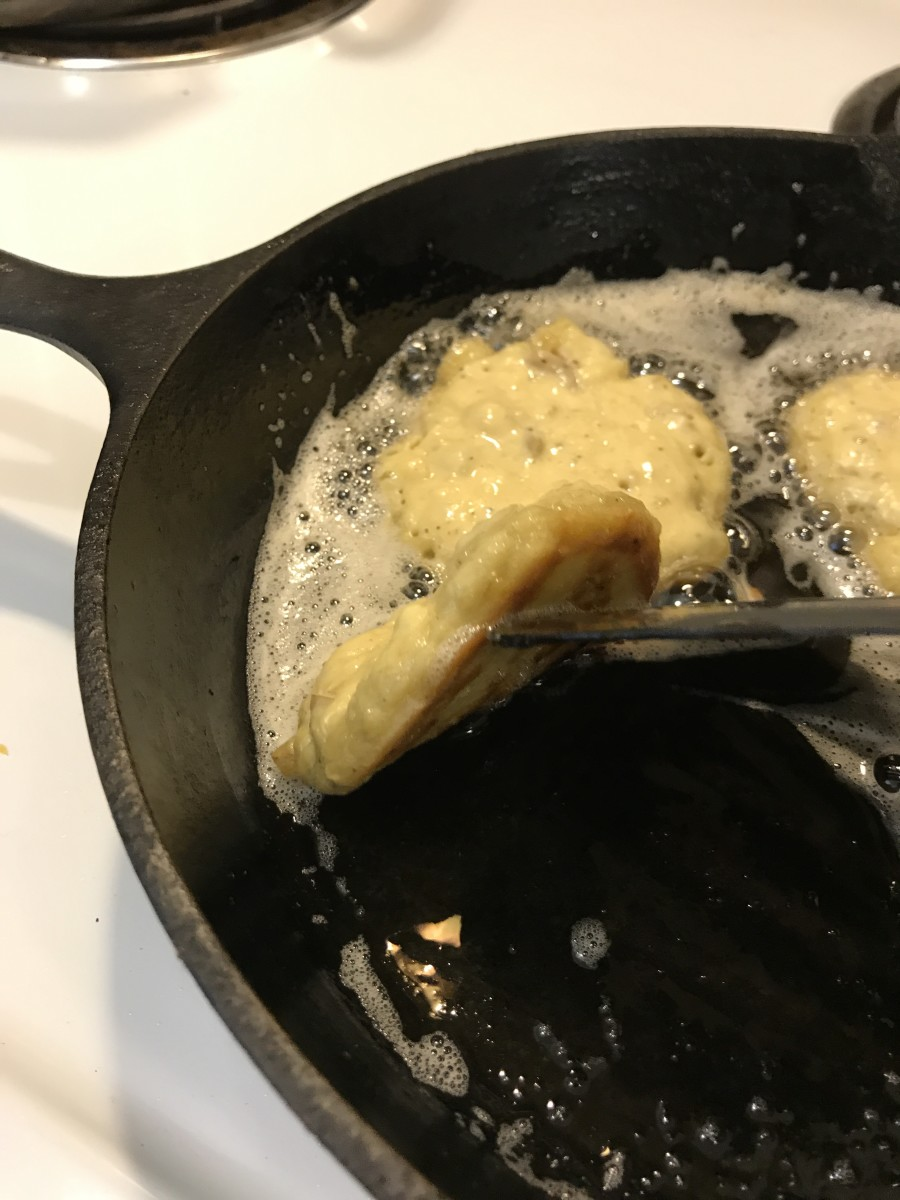 Because you need to cook the raw potato and flour both, keep the heat medium low, and cook for about 8-10 minutes, or until bubbles form on top and the bottoms are golden brown and crusty.