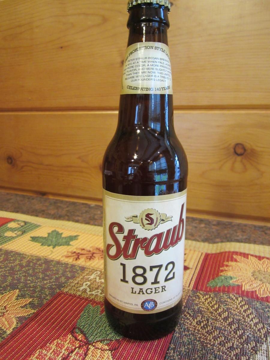 140th anniversary brew: Straub 1872 Lager