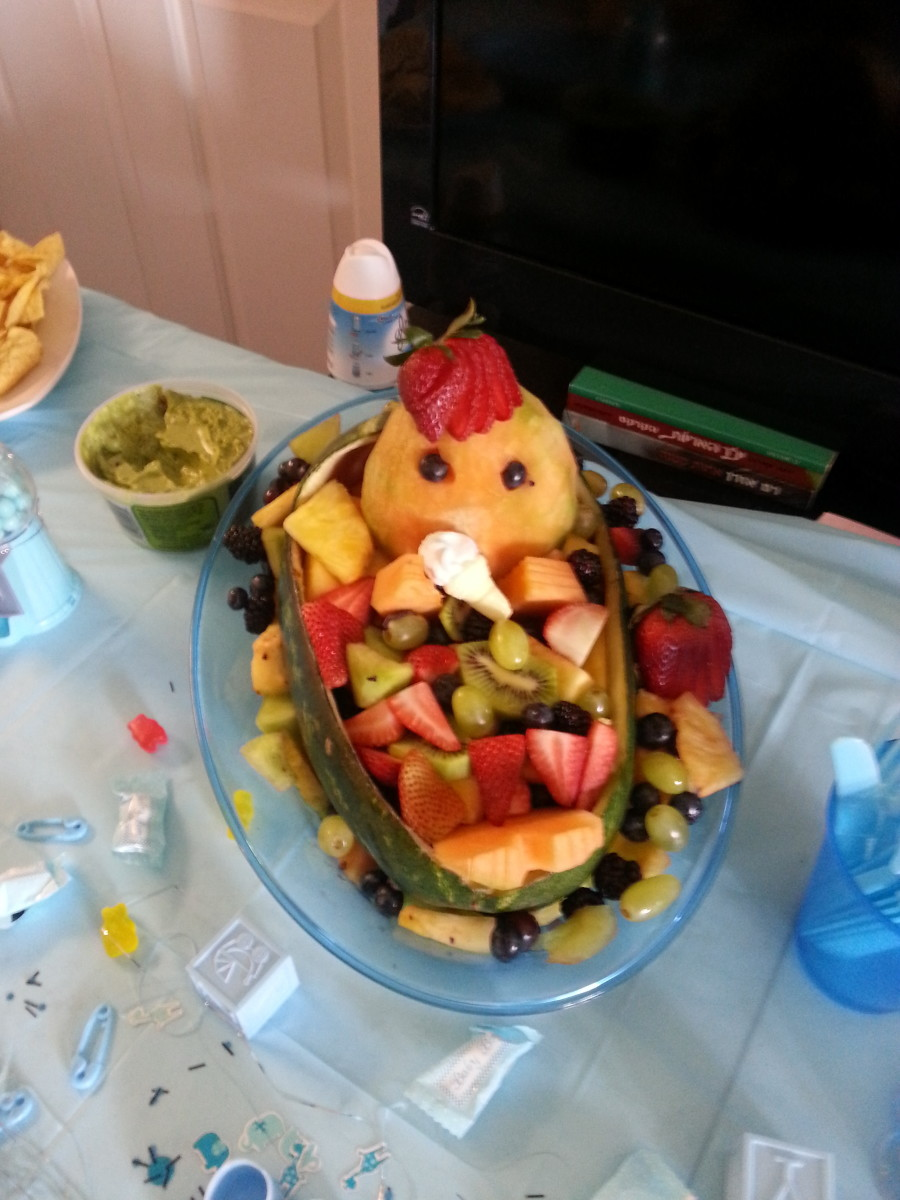 How to Make a Watermelon Bassinet for a Baby Shower