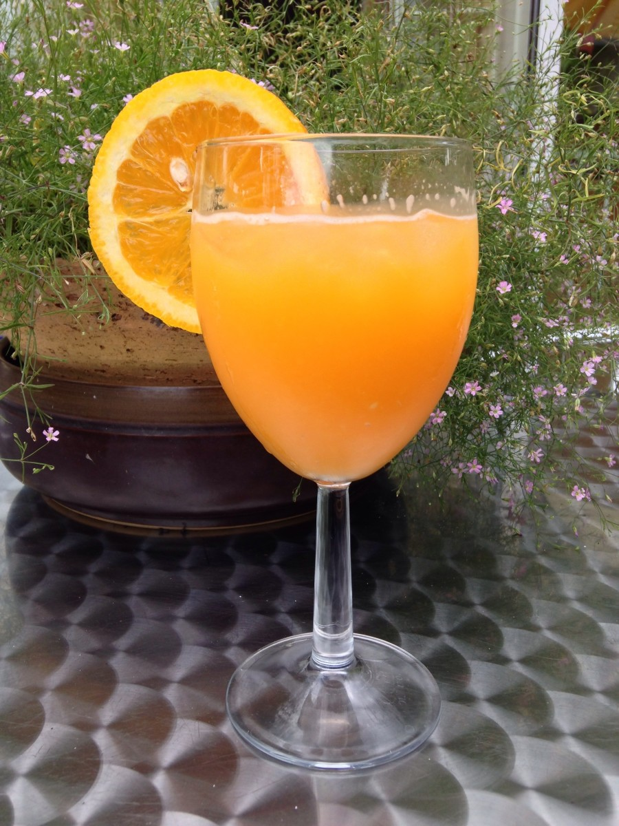 Vodka and Freshly Squeezed Orange Juice