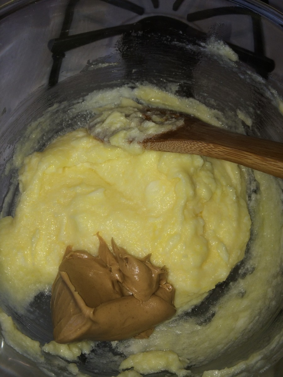 Add Jif Cinnamon Spread to the butter mixture, and stir well.