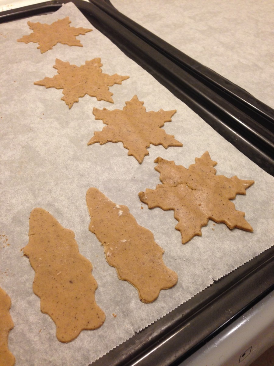 Gingerbread cookies before going in the oven.