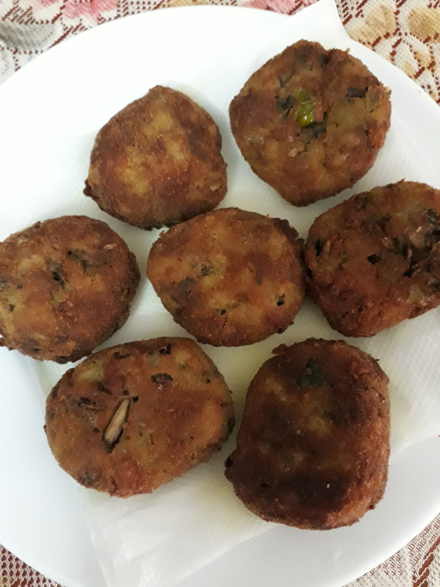 The completed cutlets.