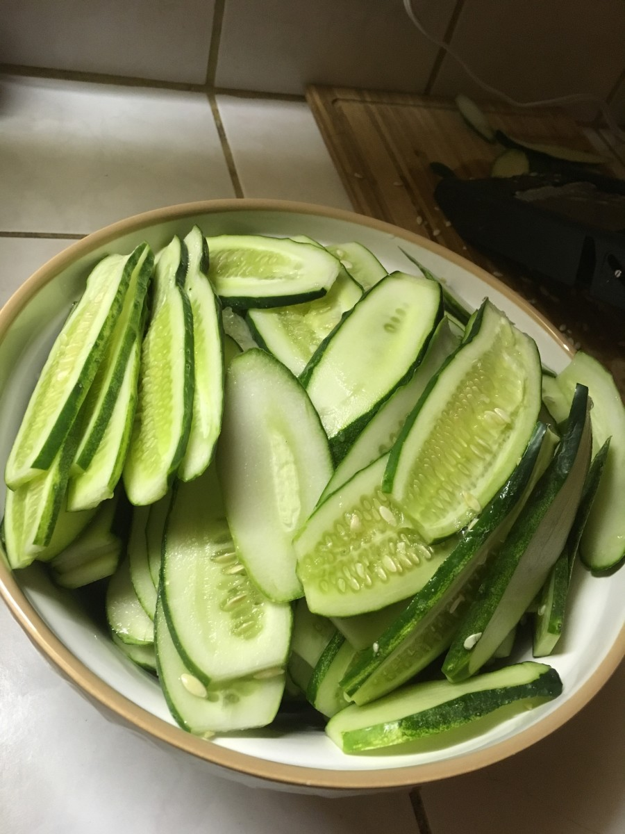 Fresh garden cucumbers make the best pickles.