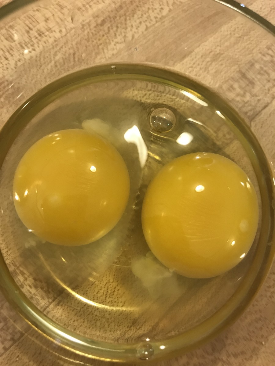 It's easier to check for shell fragments and broken yolks if you crack eggs into a small bowl prior to cooking.