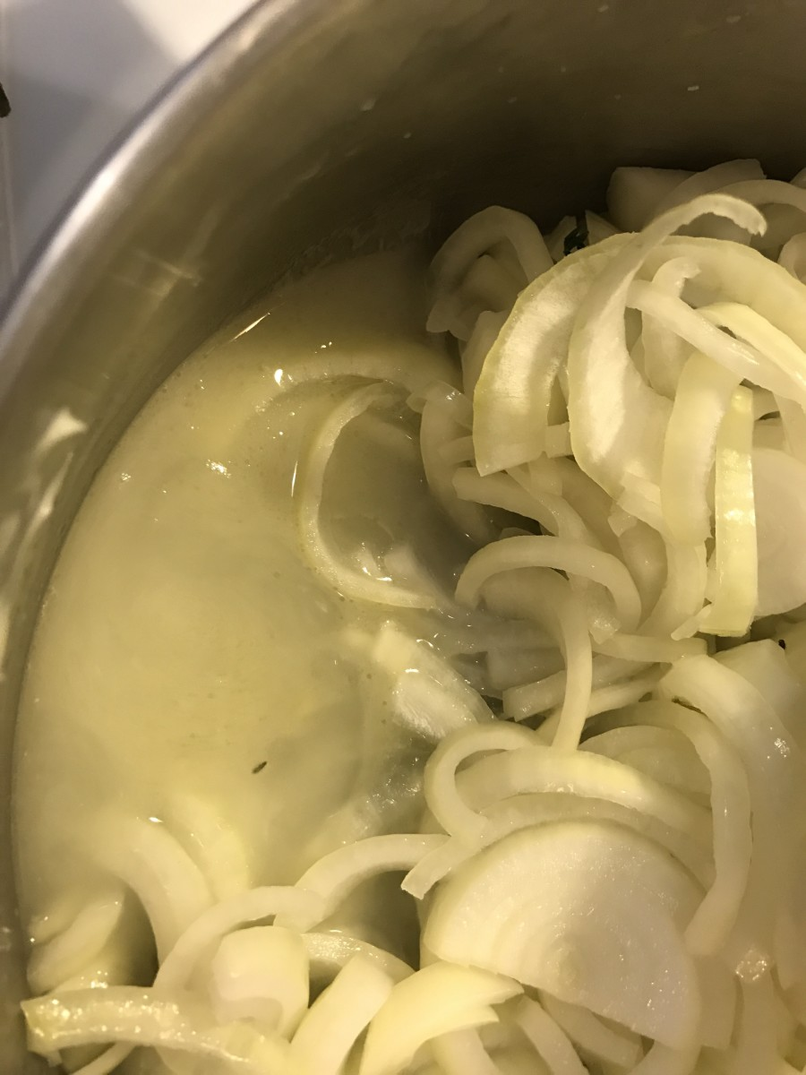 Fresh onions contain a ton of liquid. Caramelization is all about reducing something to bring out the sugars. Cooking the onions to evaporate this liquid is all about patience. As it evaporates it leaves behind concentrated flavor.
