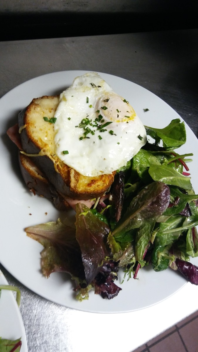 Croque madame makes for a beautiful breakfast.