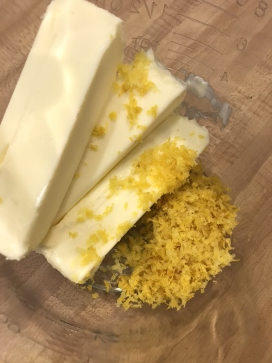 Loads of lemon zest beaten with butter until it's light and fluffy is the secret to the incredibly bright flavor of this homemade frosting recipe. The recipe calls for 3 tablespoons, which is roughly 3 lemons, but you can measure to be precise.