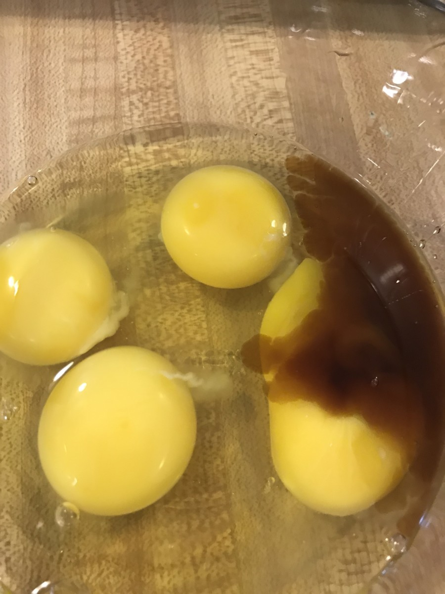 Crack the eggs into a separate small bowl. Check for shells and add the vanilla extract. Set aside while you cream the butter and sugar together.