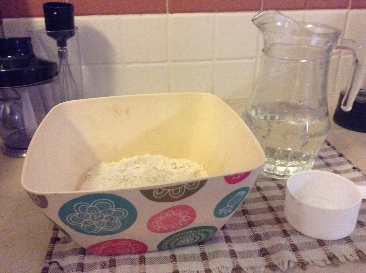 What you will need is 4 cups of flour...