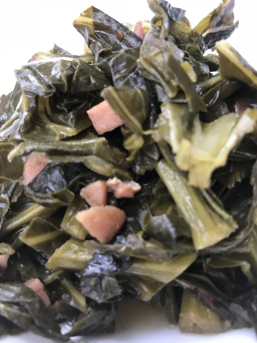 Rich and luscious, simple collard greens are simmered in broth with onions, garlic and apple cider vinegar for amazing results. A favorite comfort food in the South, they're also good luck when eaten on New Year's Day!