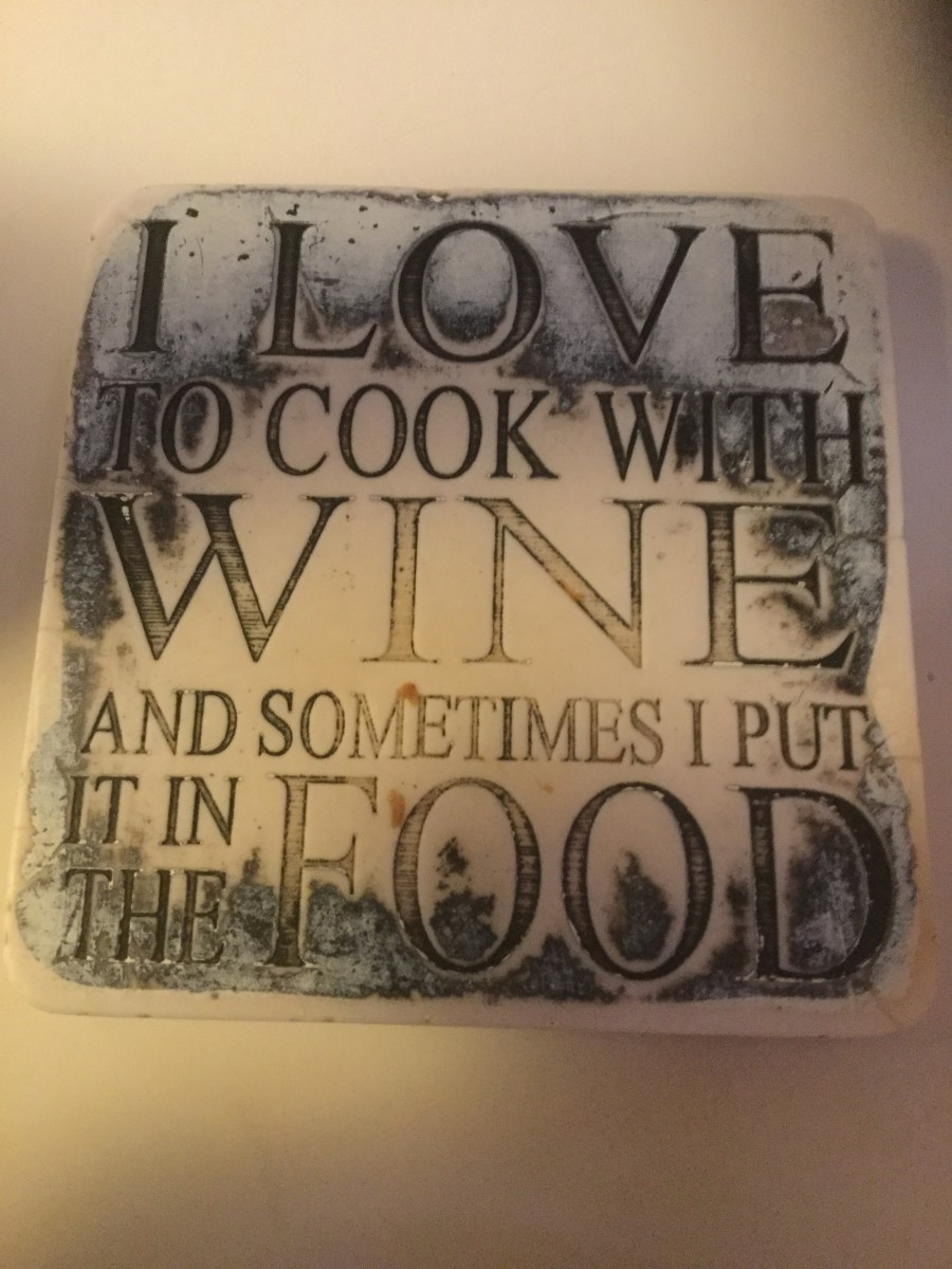 I love cooking with wine.