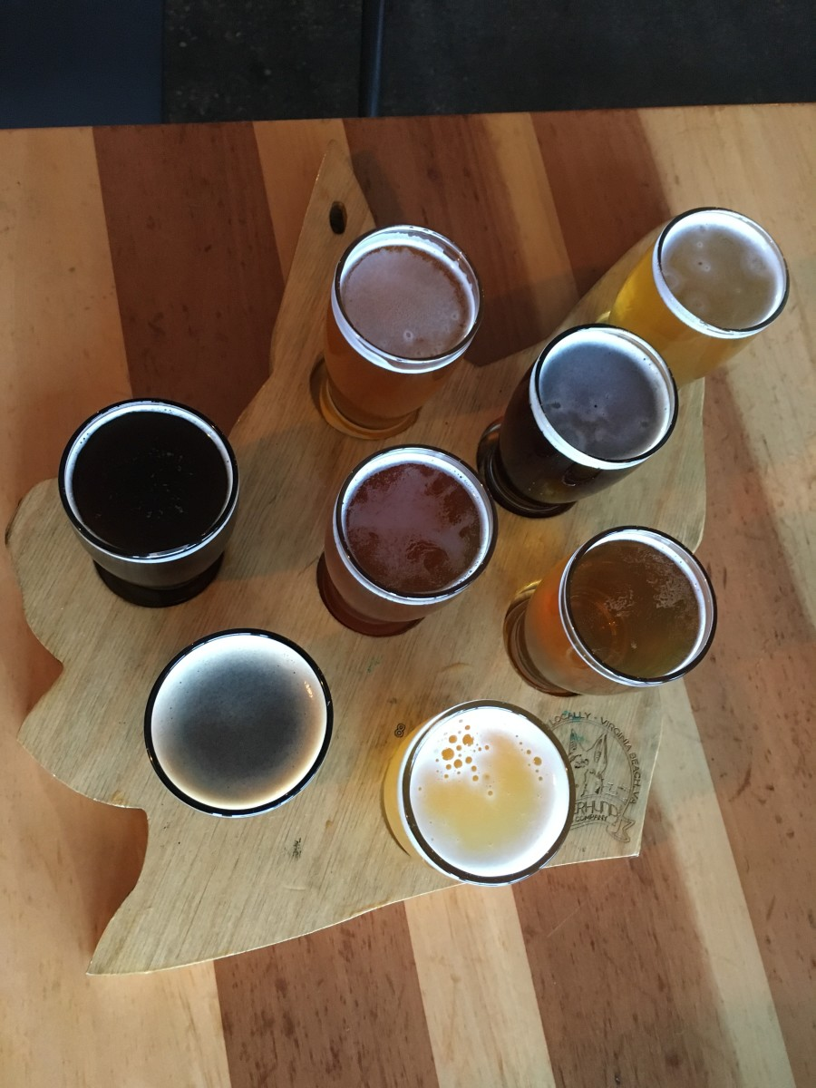 When Wasserhund first opened they only had eight beers on tap. They had these cute trays made for their flights. Now they typically have between 11-13 beers on tap at any given time.