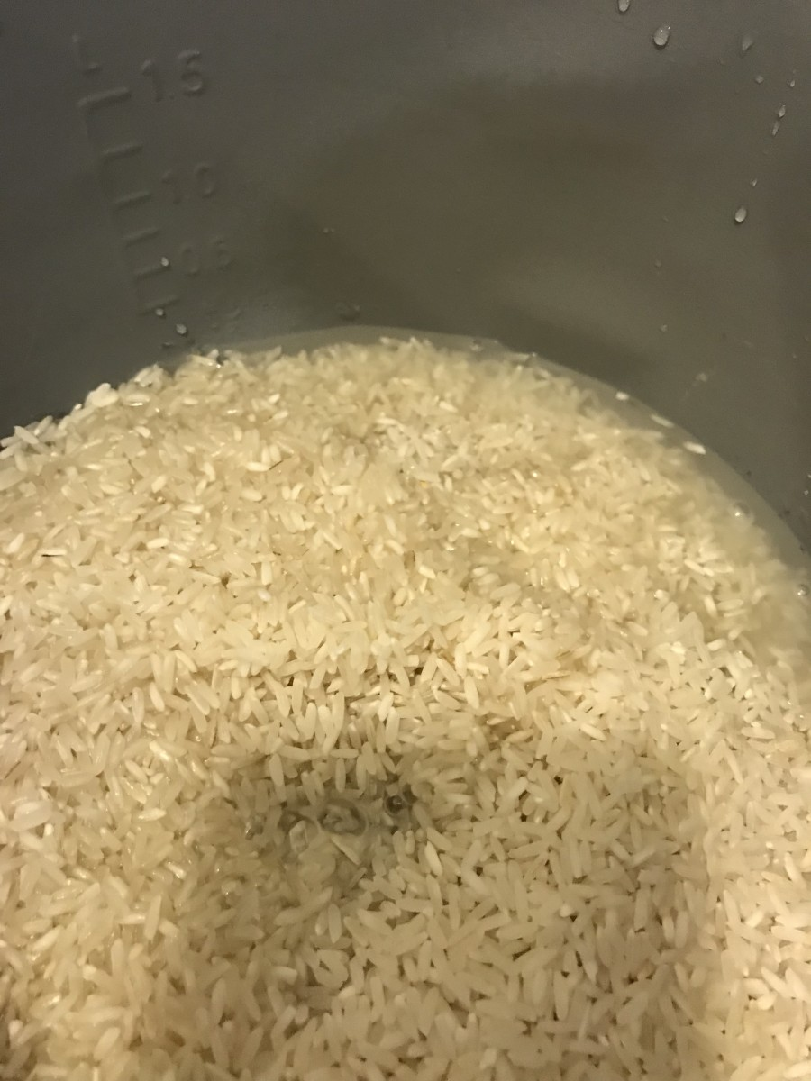 The first step is simply to cook the rice. I love my rice cooker - I can't remember the last time I actually put it away - I use it several times a week. But the stove top is almost as easy.