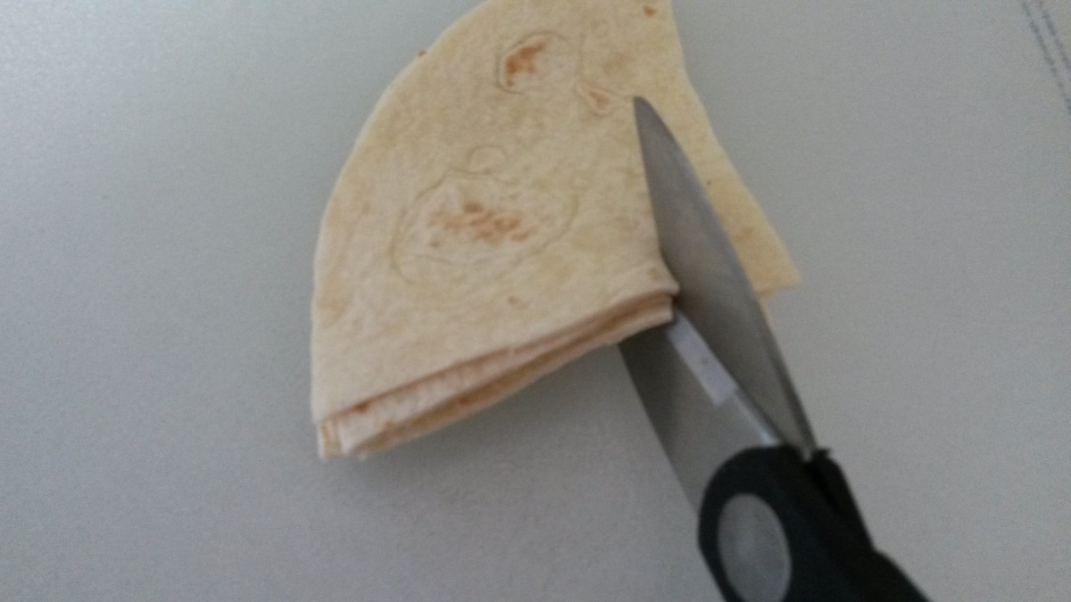 Easy Method for Cutting Tortillas Into Strips for This Recipe