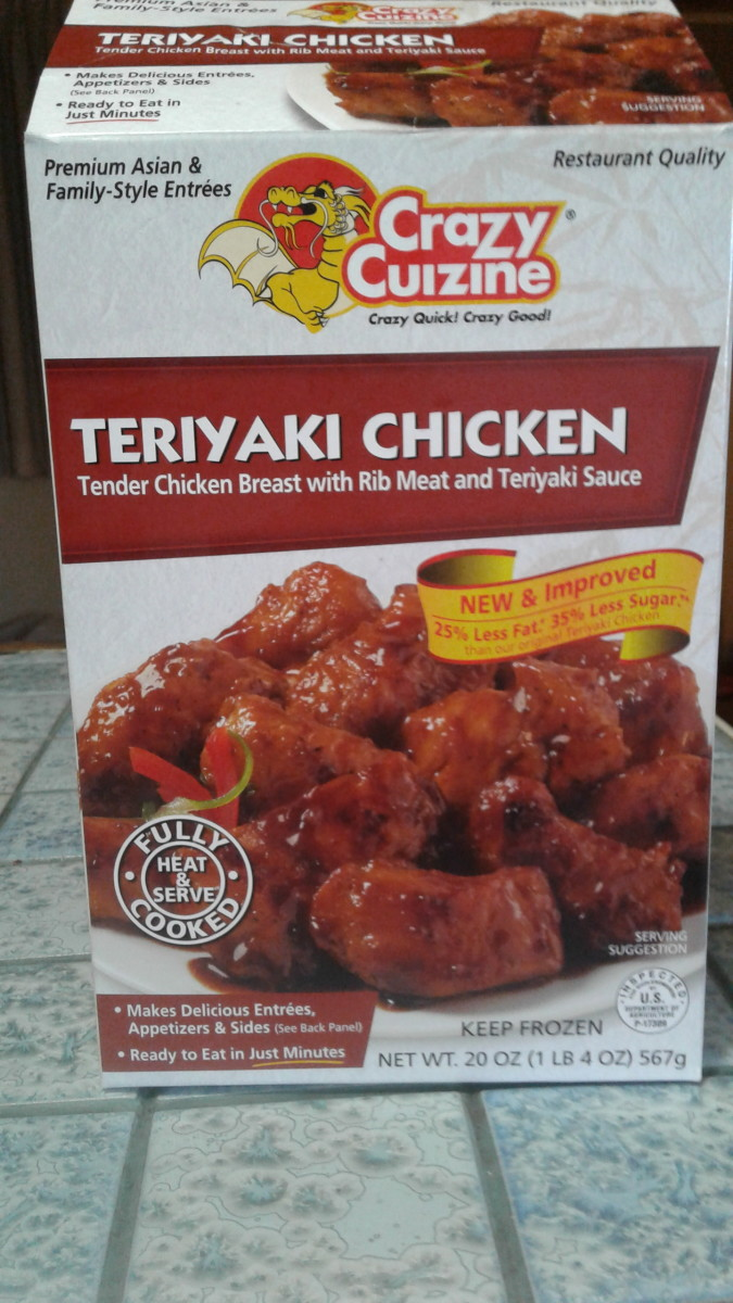 Teriyaki chicken is found in the frozen section in the meat and seafood area