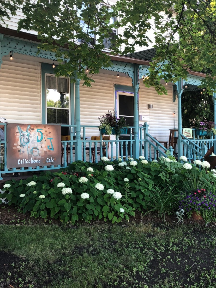 The front porch. The cafe's personality shines through from start to finish.