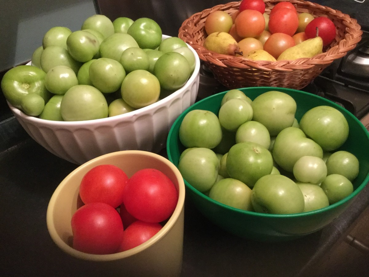 Green Tomato Chutney (Or, What to Do With a Bumper Crop)