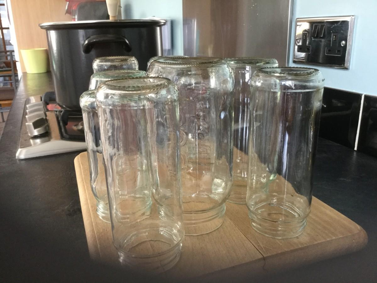 Jars for chutney (I save jars because I often make jam)
