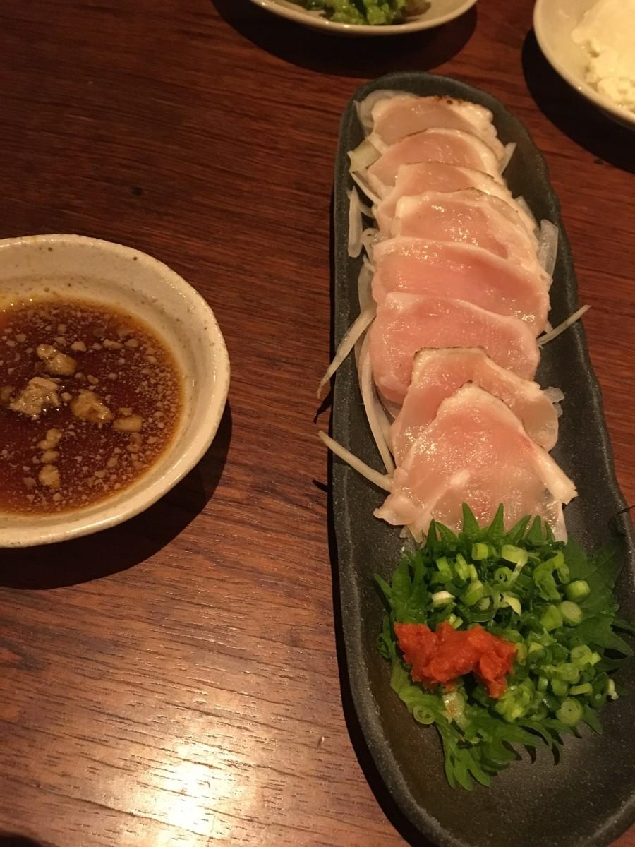 Tori (chicken) tataki