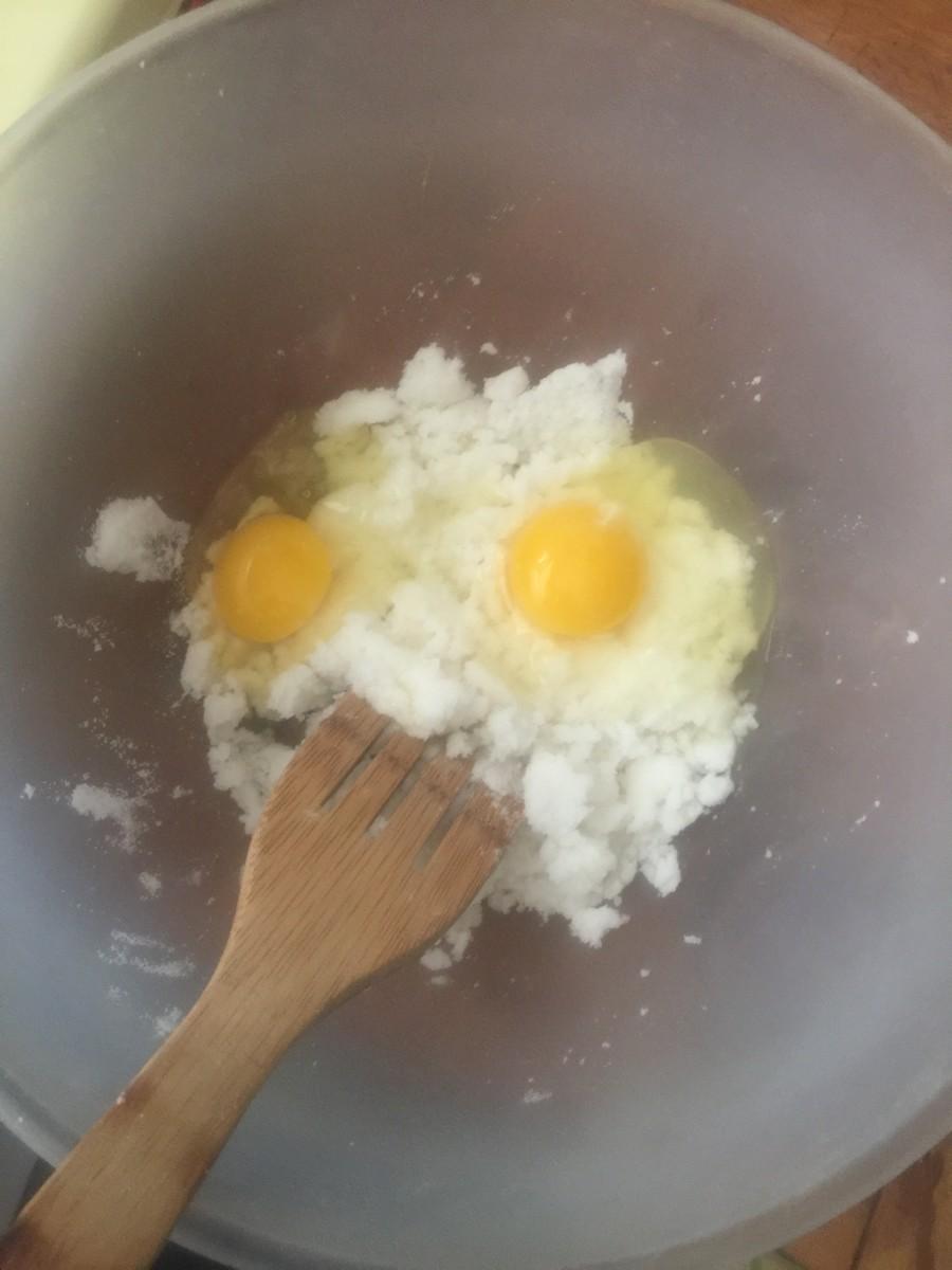 Two eggs oughta do it.