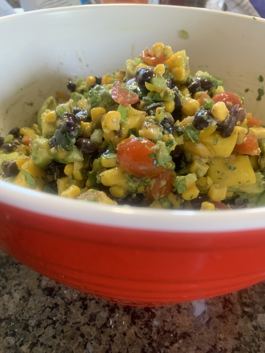 Mouthwatering Vegetarian Black Bean, Avocado, and Mango Salsa