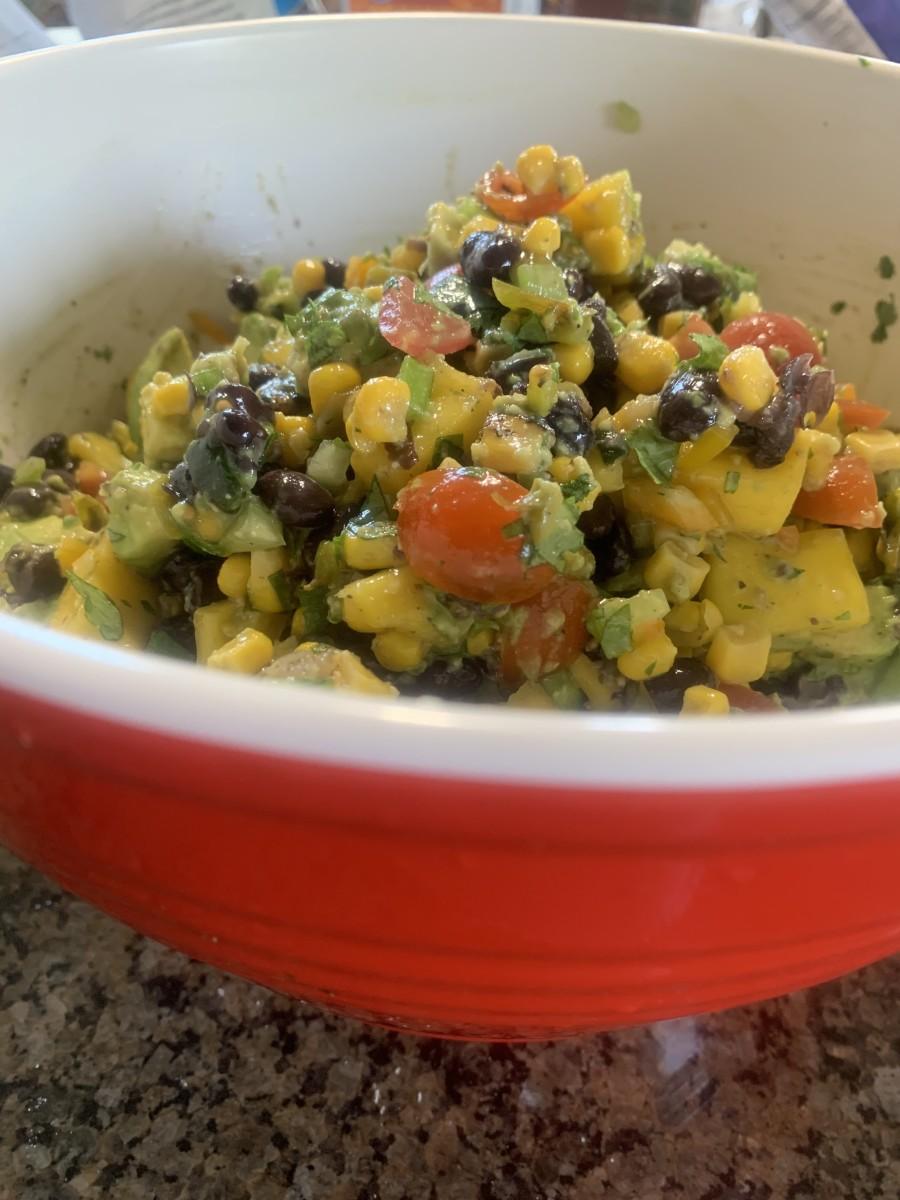 Mouthwatering Vegetarian Black Bean, Avocado, and Mango Salsa