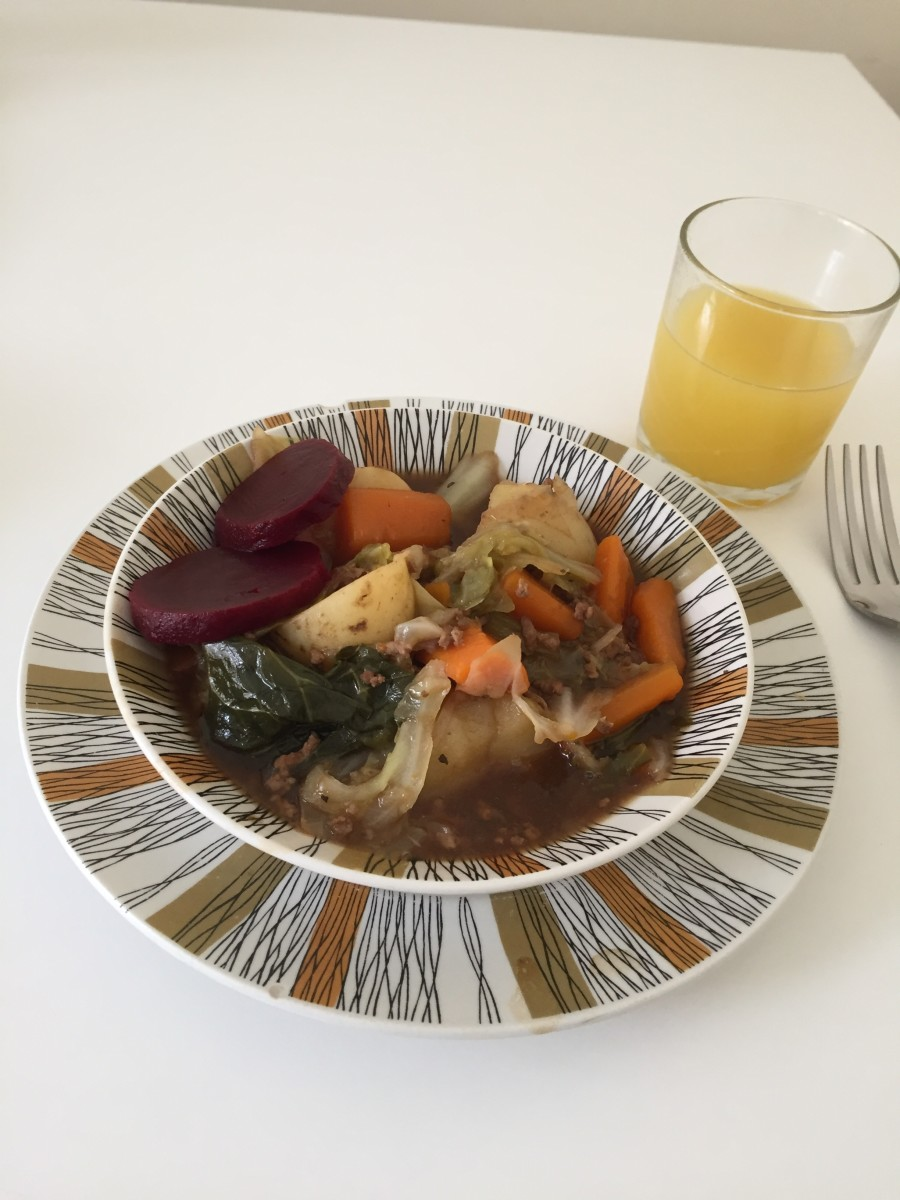 This poor man's stew is perfect with beetroot.