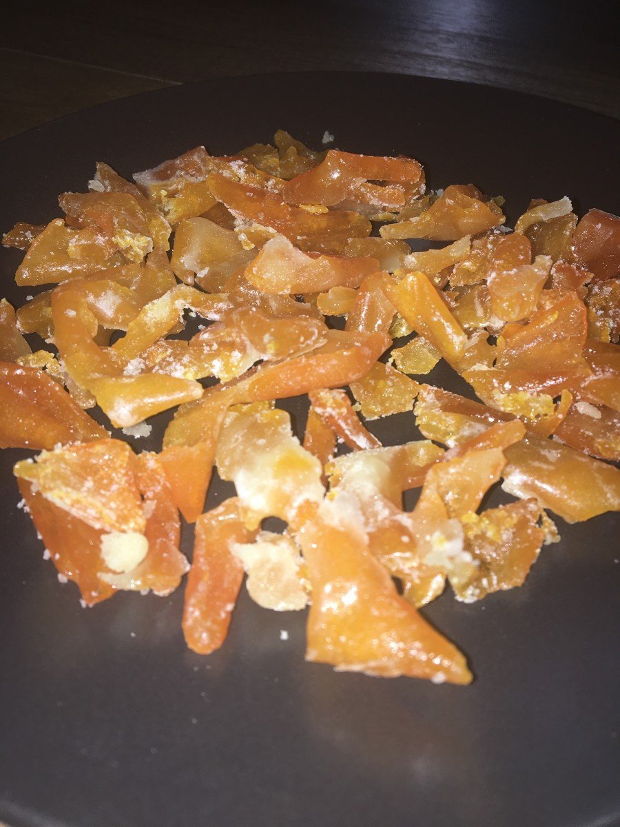 Old-fashioned orange peel candy