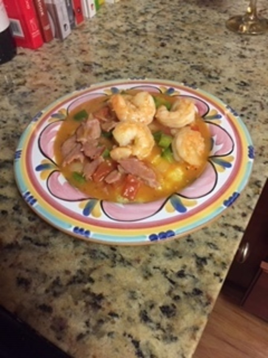 Southern Bacon Shrimp and Grits