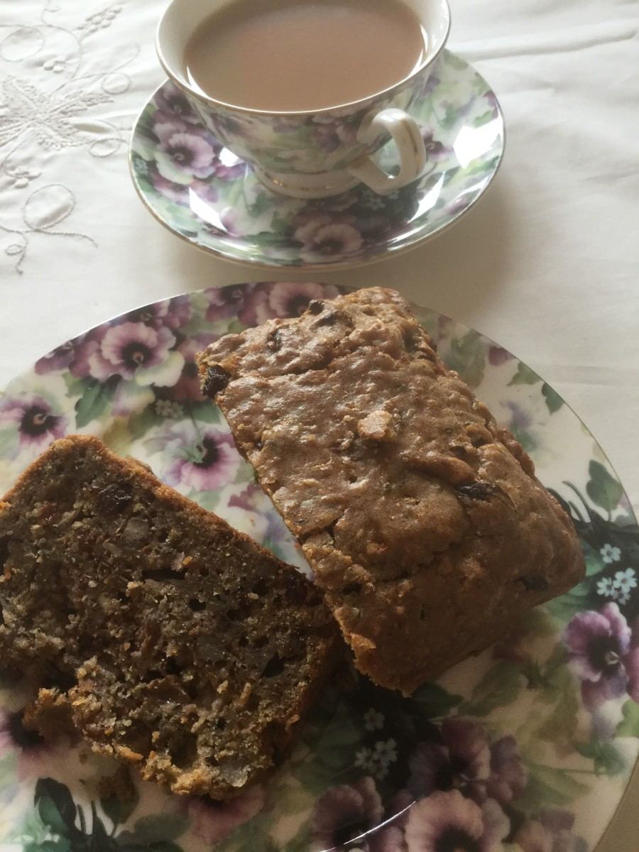 Spiced Courgette, Carrot, Walnut and Dried Fruit Loaf With Zero Animal Fat