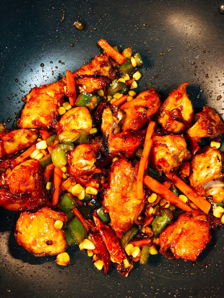Malaysian Ayam Masak Kicap (Fried Chicken in Sweet and Spicy Sauce)