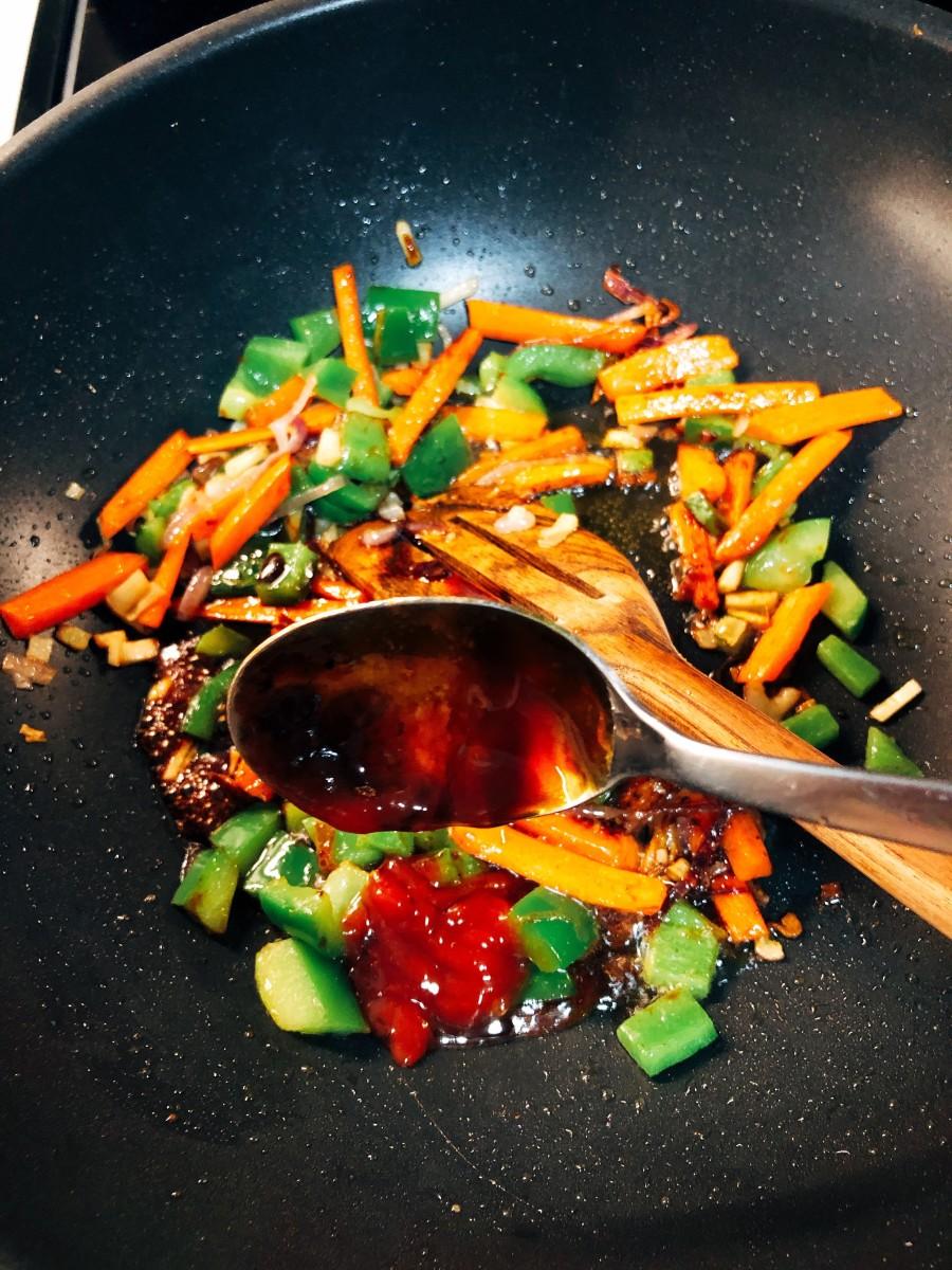 Add the chili sauce.