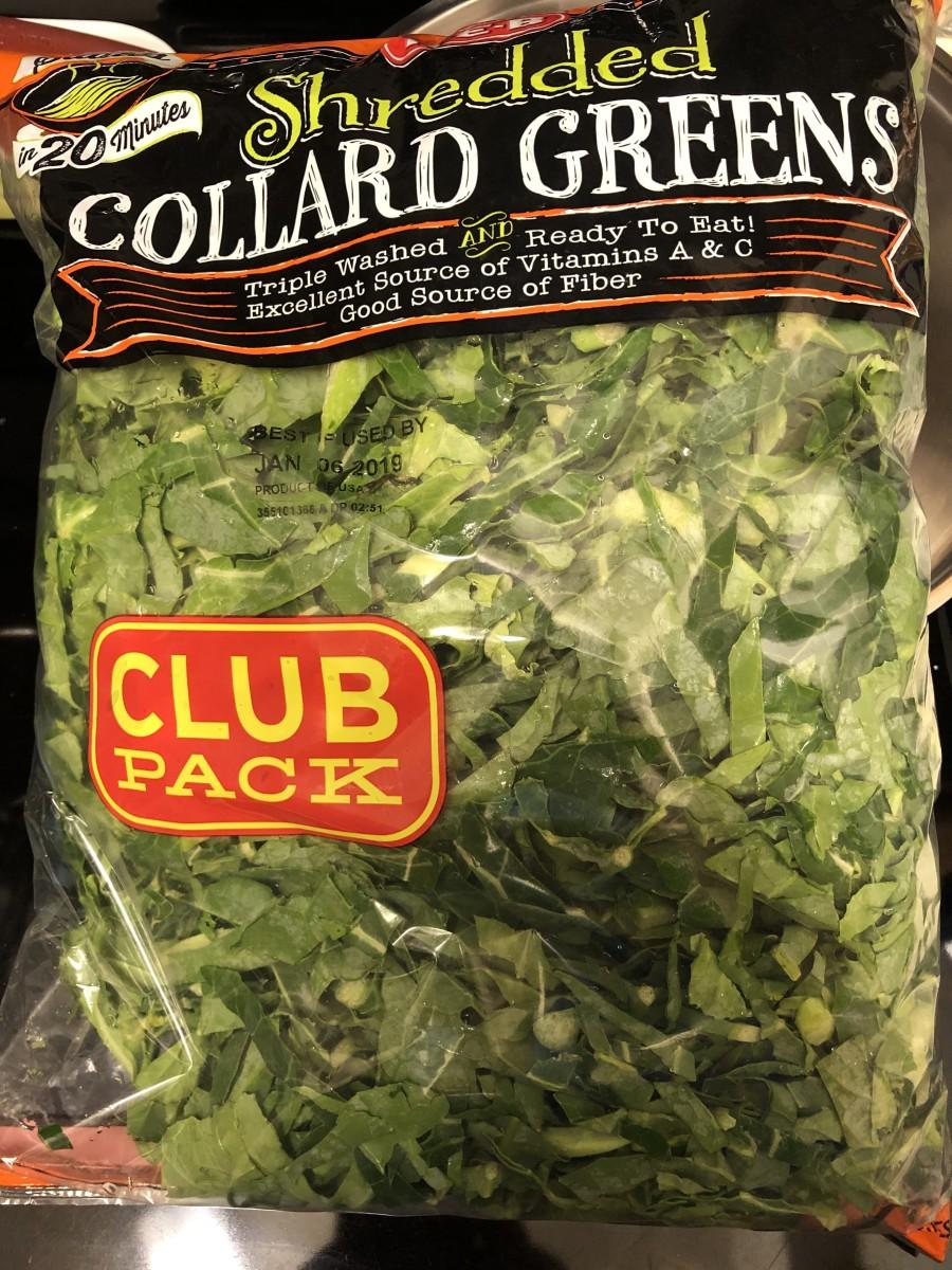 2-lb bag of sliced triple-washed collards