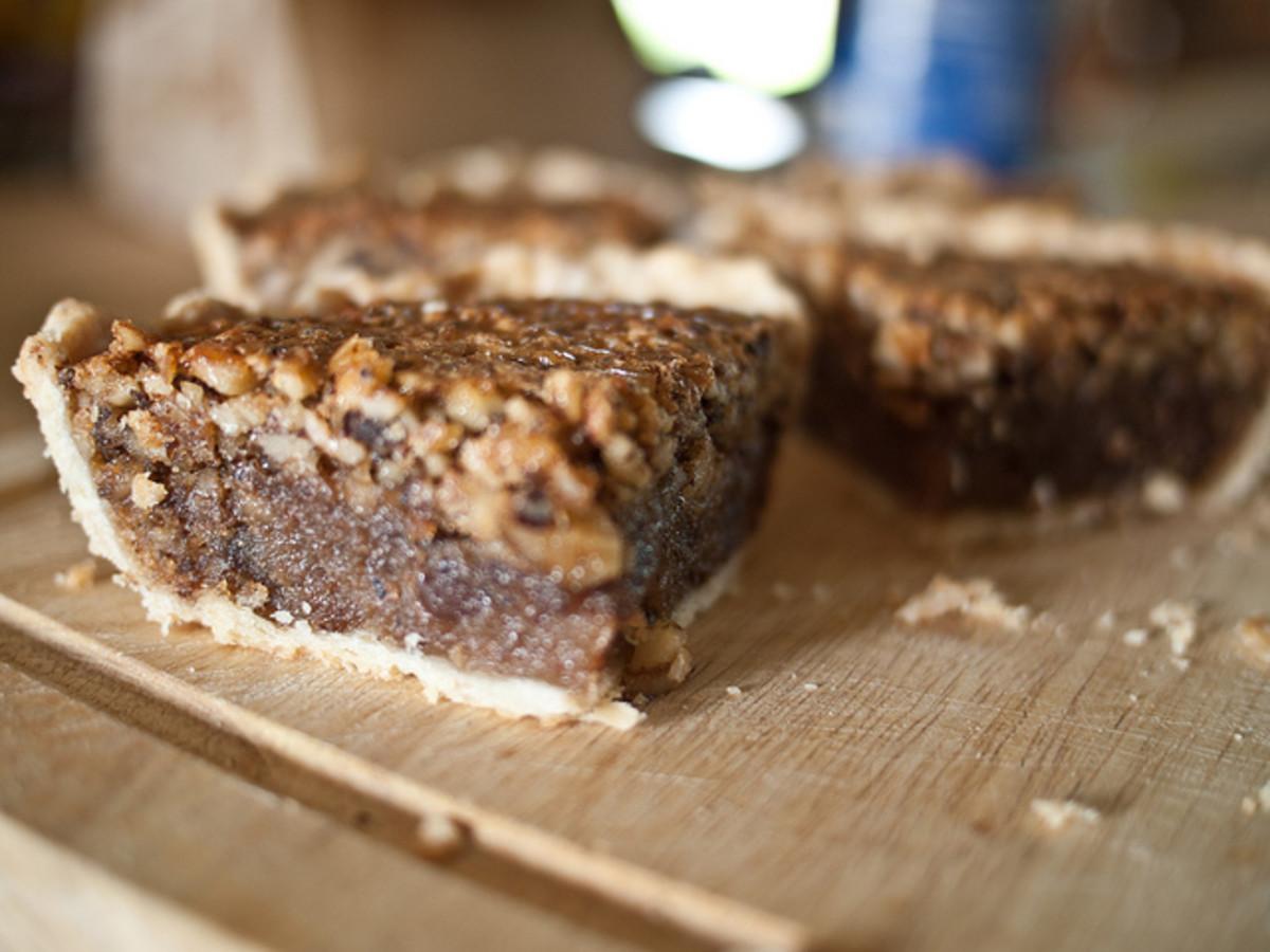 Black Walnut Fudge Pie