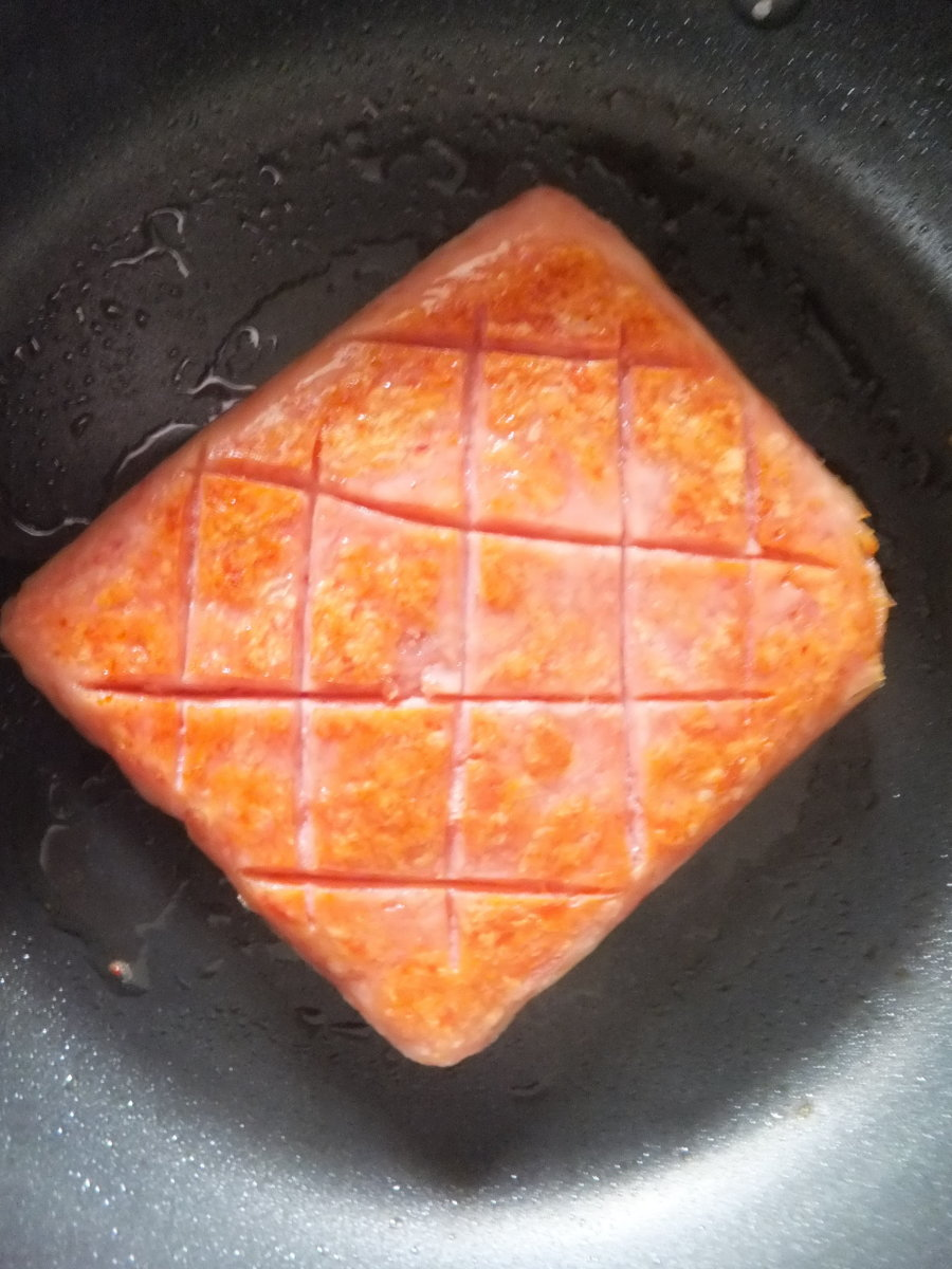 The preferred method of cooking SPAM without any loud bangs.