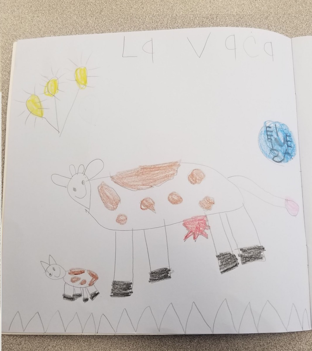 This is one of my students work and she wrote a book about the farm.