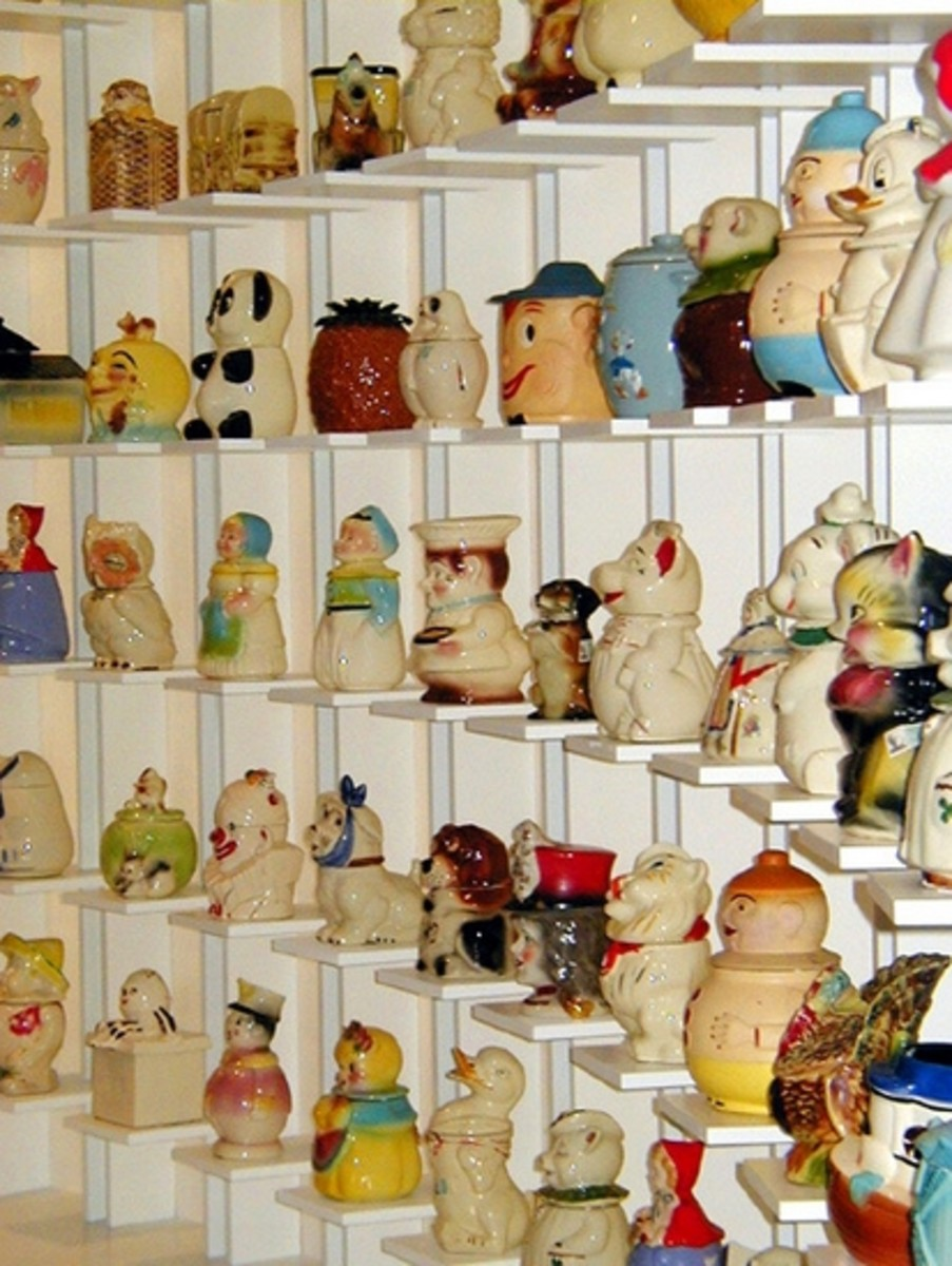 Andy's cookie jar collection on display at The Andy Warhol Museum
