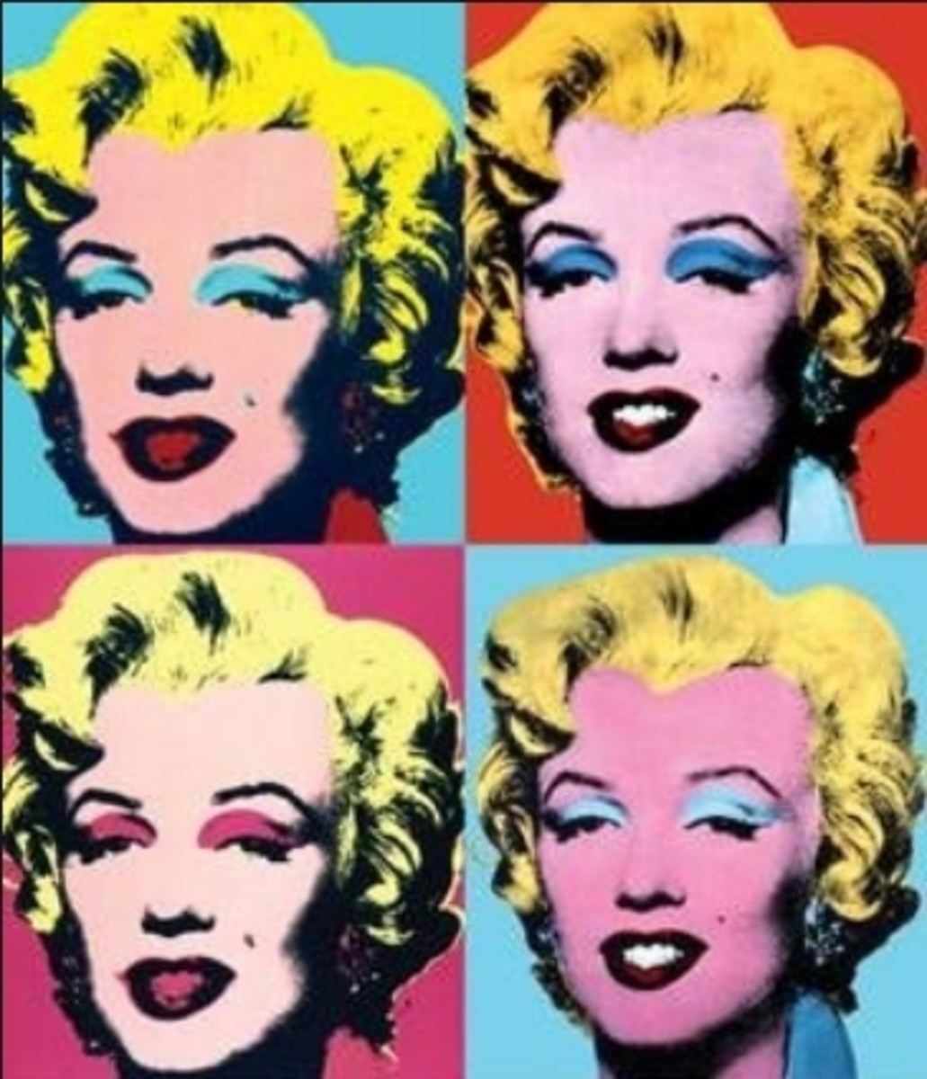 Series of portraits of Marilyn Monroe by Andy Warhol