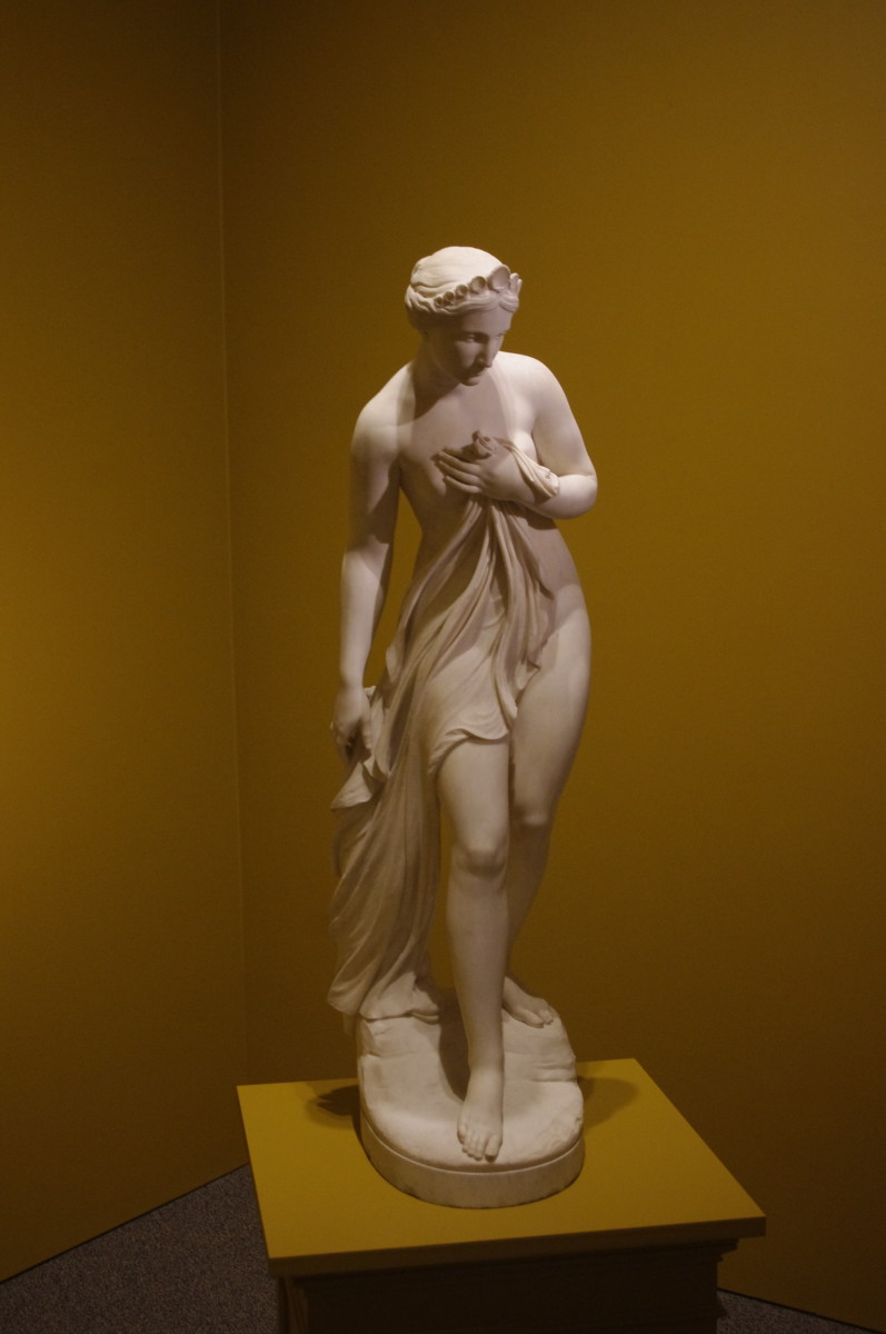 """Thetis"" (modeled 1861) by William Henry Rinehart (American) 1825-1874. Made of marble."