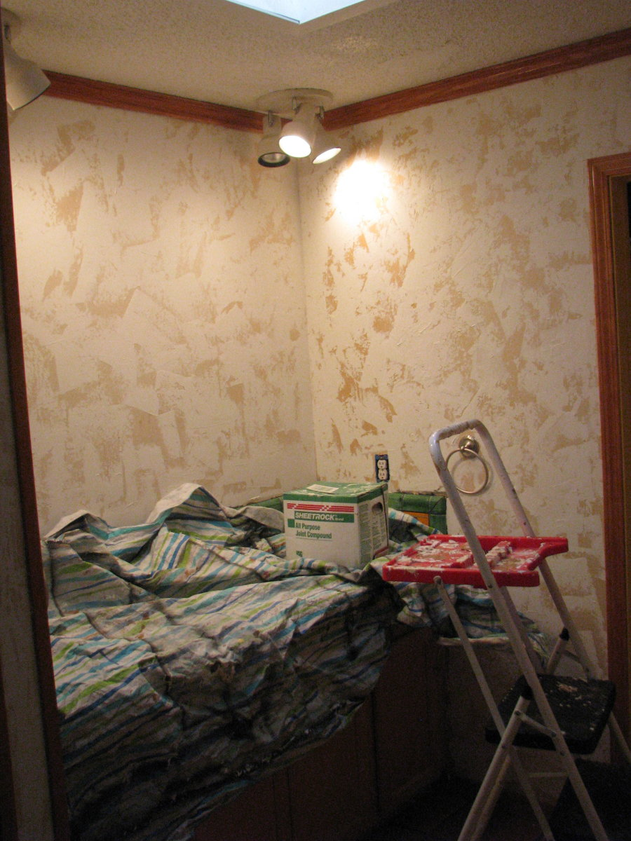 How To Hand Plaster Walls To Cover Over Wallpaper Or