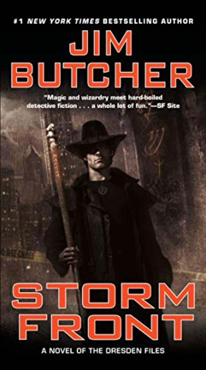 "Cover for Jim Butcher's ""Storm Front"""