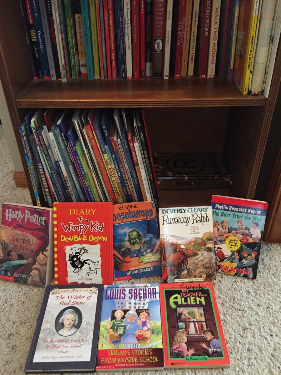 I display books that build fluency within easy grasp of children.