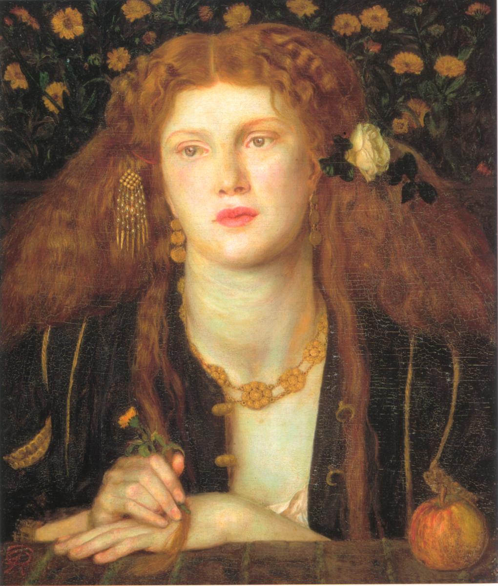 Bocca Baciata (1859) by Dante Gabriel Rossetti. (Model: Fanny Cornforth)