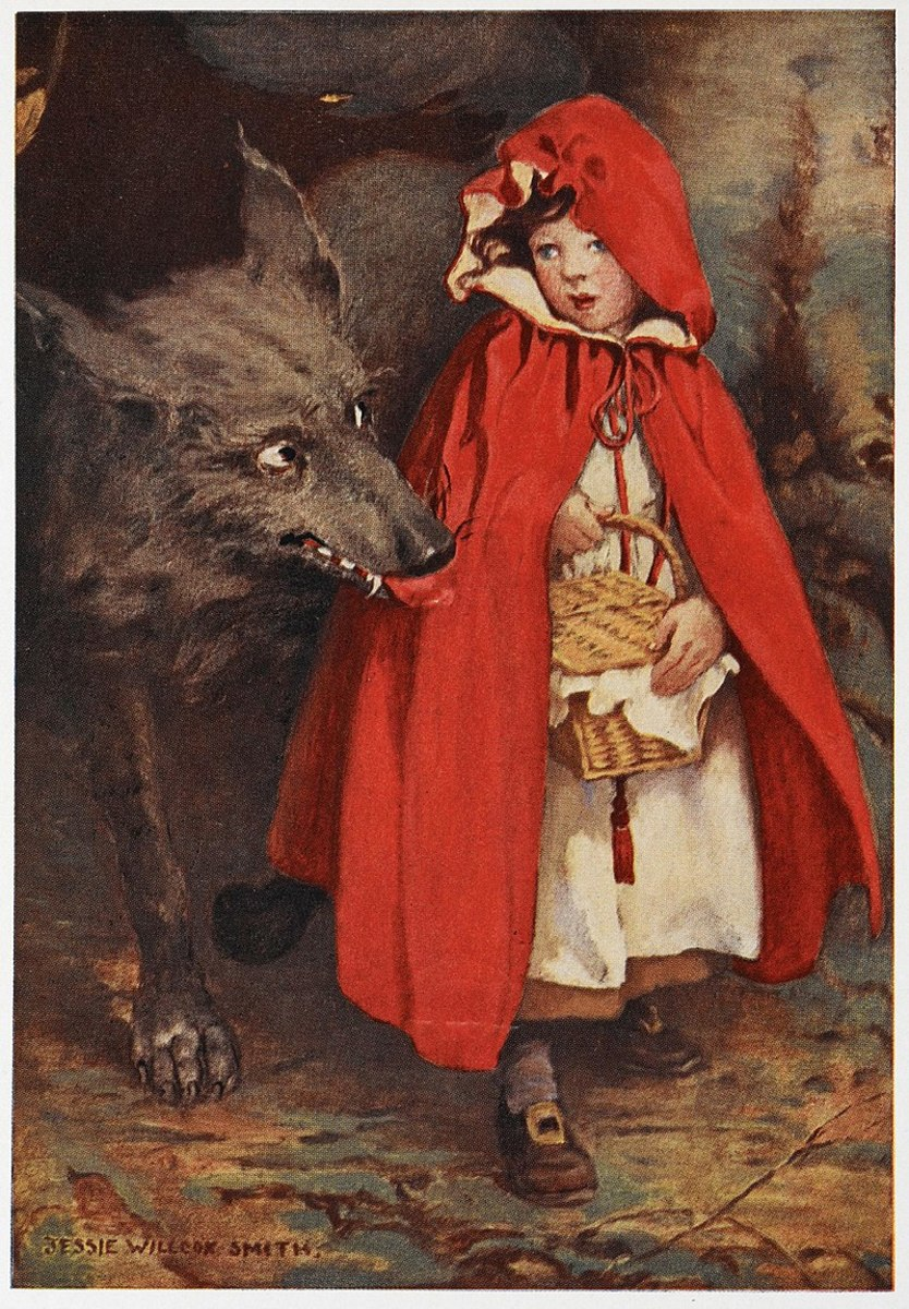 """The evil wolf popular in  """" Little Red Riding Hood,"""" reminded German children of Napoleon Bonaparte."""