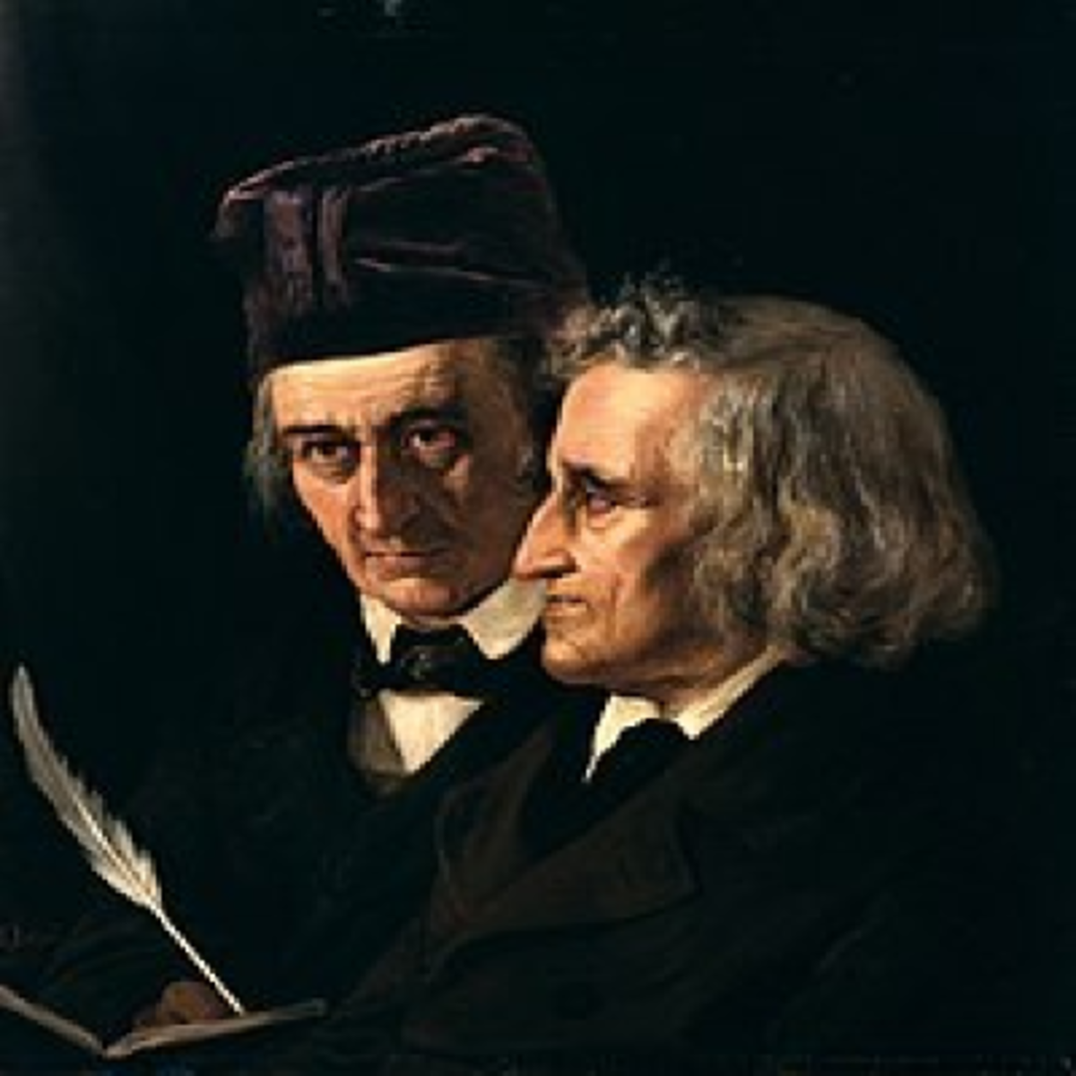 An 1855 Painting of the Brothers Grimm by Elizabeth Jerichau Baumann