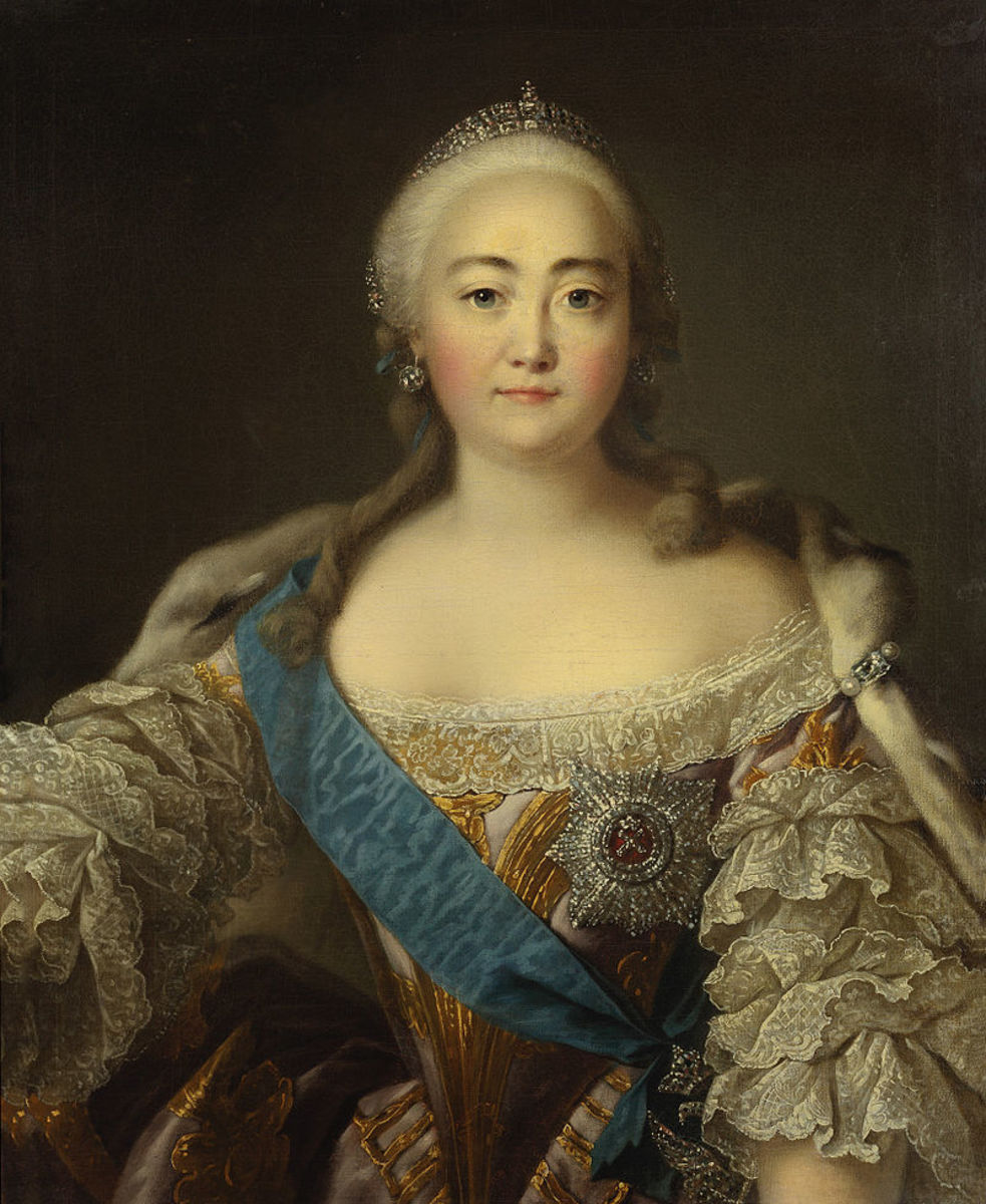 Empress Elizabeth who imprisoned Ivan VI.