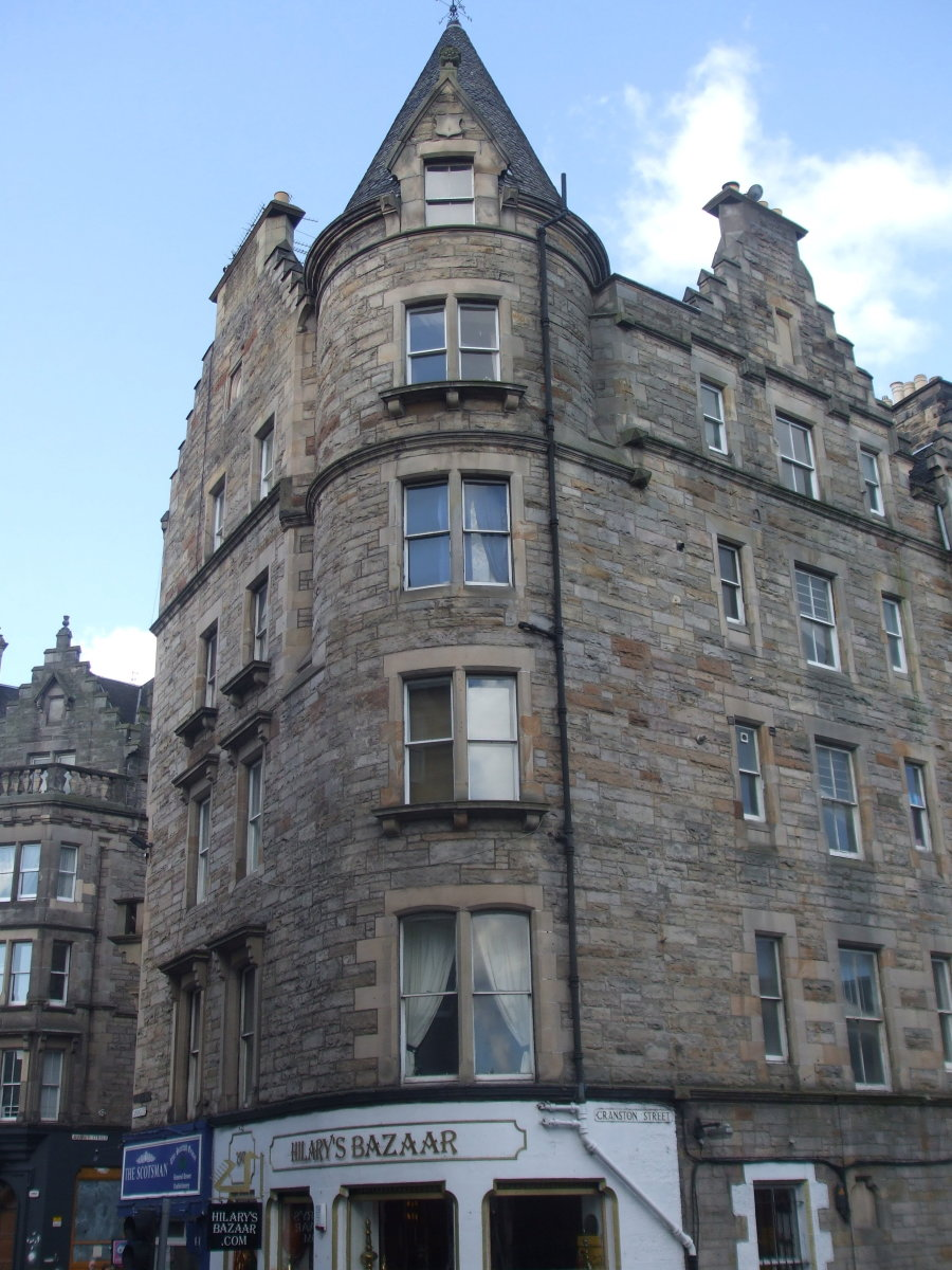 Scots Baronial style of the tenement building