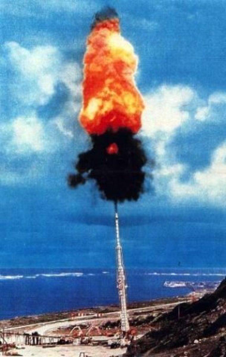 A test firing of the HARP supergun on Barbados.