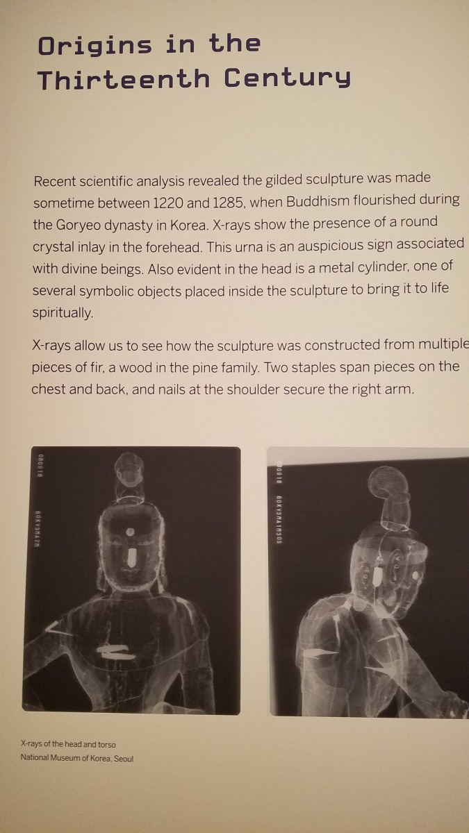 X-ray of a 13th century CE status of Buddha from Korea.